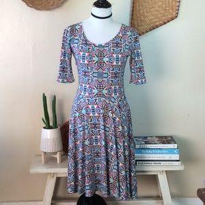 Lularoe Printed Nichole dress S